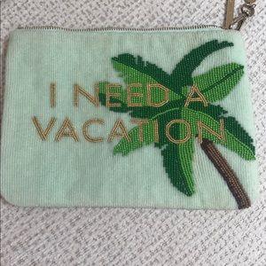 Kate Spade ♠️ I Need A Vacation glass beaded bag